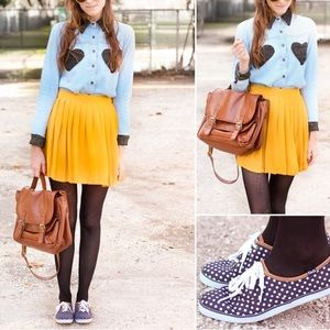 Keds by Madewell Navy Polka Dot Sneakers